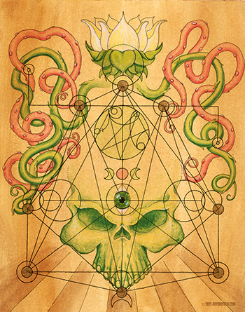 Green Skull Lotus Vines-from the Book of Gosh